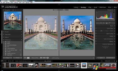 Ekrānuzņēmums Adobe Photoshop Lightroom Windows XP