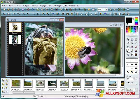 Ekrānuzņēmums PhotoFiltre Windows XP
