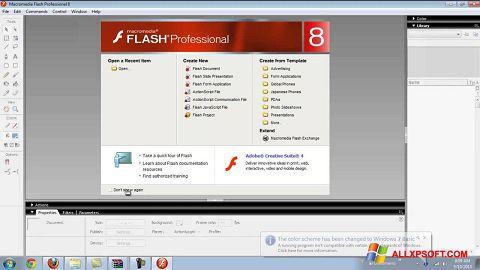 Ekrānuzņēmums Macromedia Flash Player Windows XP