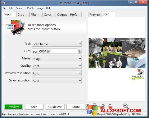 Ekrānuzņēmums VueScan Windows XP