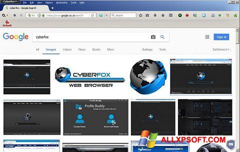Ekrānuzņēmums Cyberfox Windows XP