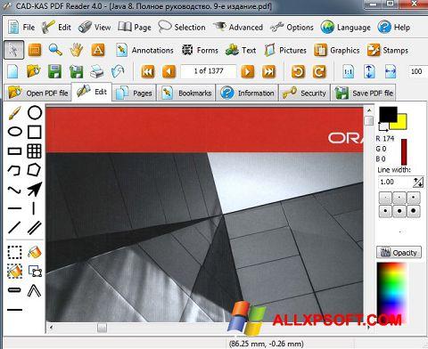 Ekrānuzņēmums PDF Reader Windows XP