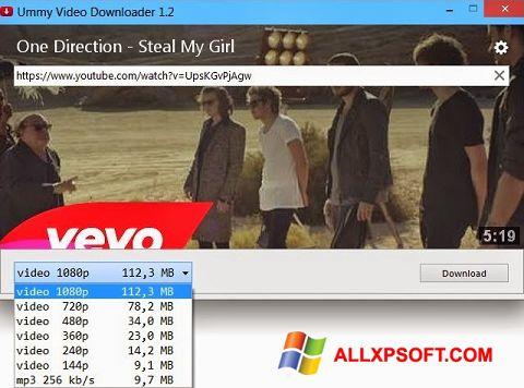 Ekrānuzņēmums Ummy Video Downloader Windows XP