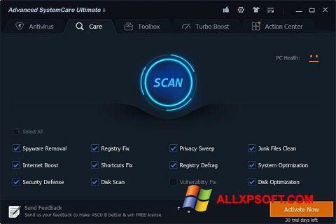 Ekrānuzņēmums Advanced SystemCare Ultimate Windows XP