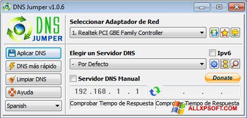 Ekrānuzņēmums DNS Jumper Windows XP