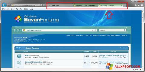 Ekrānuzņēmums Internet Explorer Windows XP