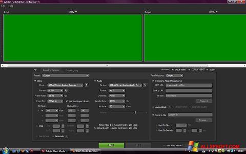 Ekrānuzņēmums Adobe Media Encoder Windows XP