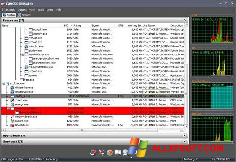 Ekrānuzņēmums Comodo Cleaning Essentials Windows XP