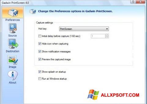 Ekrānuzņēmums Gadwin PrintScreen Windows XP