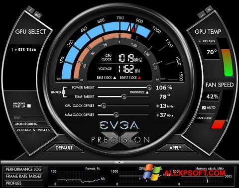 Ekrānuzņēmums EVGA Precision X Windows XP