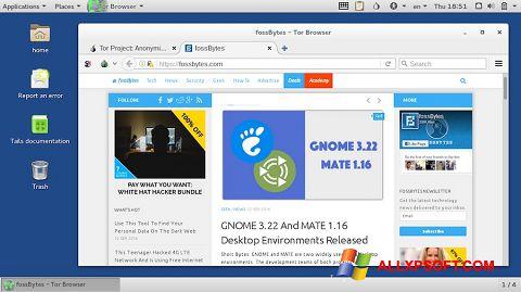 Ekrānuzņēmums Tor Browser Windows XP