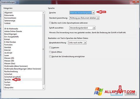 Ekrānuzņēmums Adobe Reader Windows XP