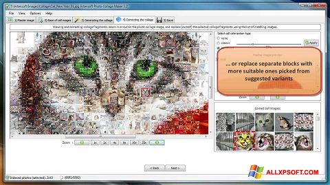 Ekrānuzņēmums Photo Collage Maker Windows XP