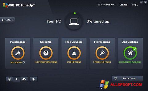 Ekrānuzņēmums AVG PC Tuneup Windows XP