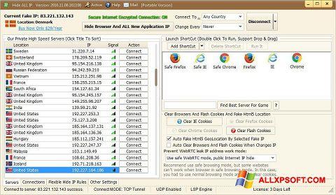 Ekrānuzņēmums Hide ALL IP Windows XP