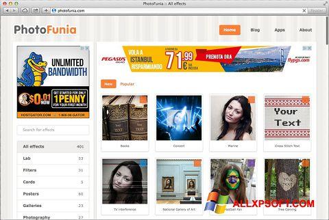 Ekrānuzņēmums PhotoFunia Windows XP