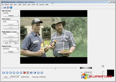 Ekrānuzņēmums Avidemux Windows XP