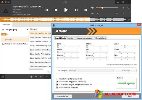Ekrānuzņēmums AIMP Windows XP