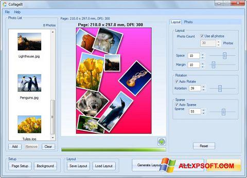 Ekrānuzņēmums CollageIt Windows XP