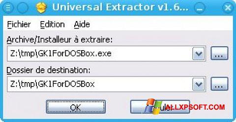 Ekrānuzņēmums Universal Extractor Windows XP
