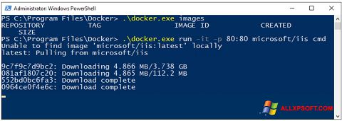 Ekrānuzņēmums Windows PowerShell Windows XP