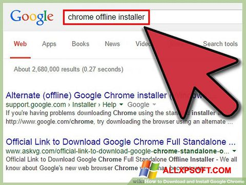 Ekrānuzņēmums Google Chrome Offline Installer Windows XP