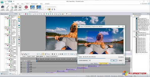Ekrānuzņēmums VSDC Free Video Editor Windows XP