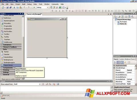 Ekrānuzņēmums Microsoft Visual Studio Windows XP
