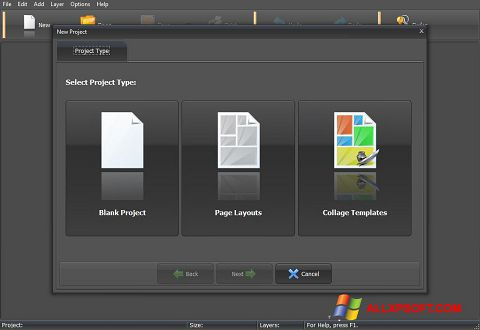 Ekrānuzņēmums PhotoMix Collage Windows XP
