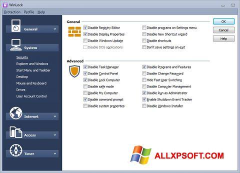 Ekrānuzņēmums WinLock Windows XP