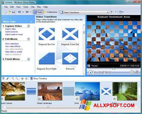 Ekrānuzņēmums Windows Movie Maker Windows XP