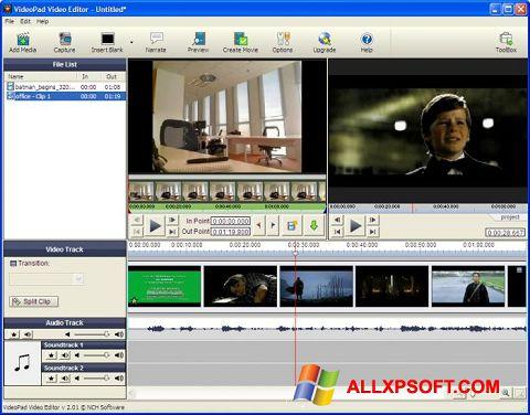Ekrānuzņēmums VideoPad Video Editor Windows XP