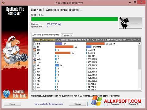Ekrānuzņēmums Duplicate File Remover Windows XP