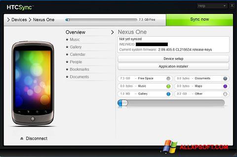 Ekrānuzņēmums HTC Sync Windows XP