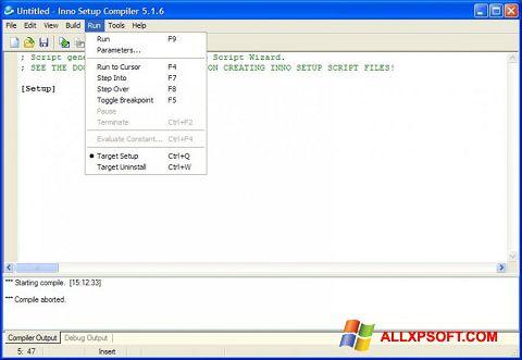 Ekrānuzņēmums Inno Setup Windows XP
