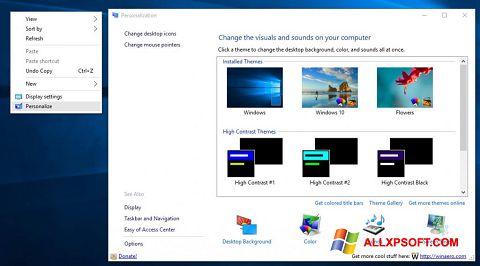 Ekrānuzņēmums Personalization Panel Windows XP