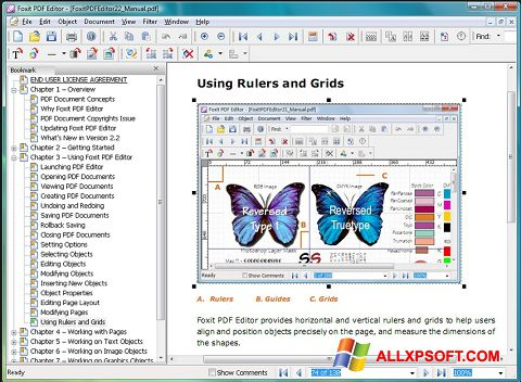 Ekrānuzņēmums Foxit PDF Editor Windows XP