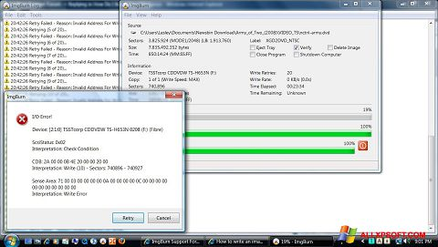 Ekrānuzņēmums ImgBurn Windows XP