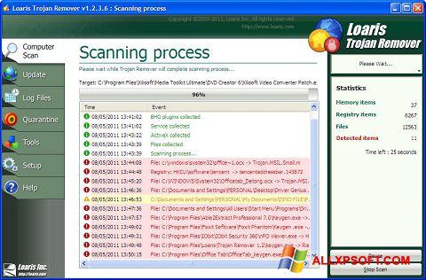Ekrānuzņēmums Trojan Remover Windows XP