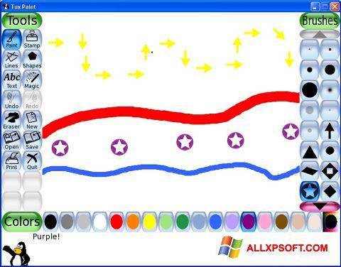 Ekrānuzņēmums Tux Paint Windows XP