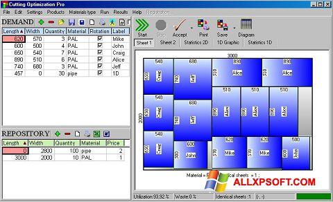 Ekrānuzņēmums Cutting Windows XP