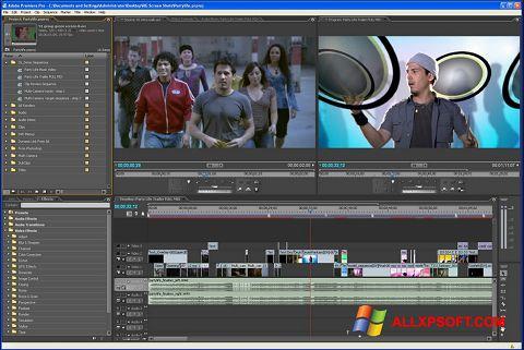 Ekrānuzņēmums Adobe Premiere Pro Windows XP
