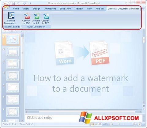 Ekrānuzņēmums Microsoft PowerPoint Windows XP