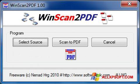 Ekrānuzņēmums WinScan2PDF Windows XP