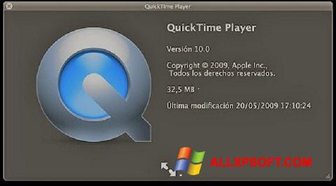 Ekrānuzņēmums QuickTime Windows XP