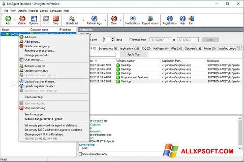Ekrānuzņēmums LanAgent Windows XP