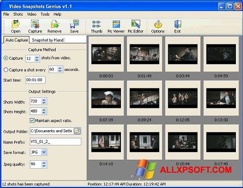 Ekrānuzņēmums SnapShot Windows XP