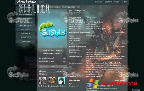Ekrānuzņēmums Get Styles Windows XP