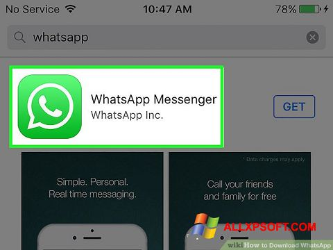 Ekrānuzņēmums WhatsApp Windows XP