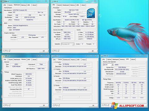Ekrānuzņēmums CPU-Z Windows XP